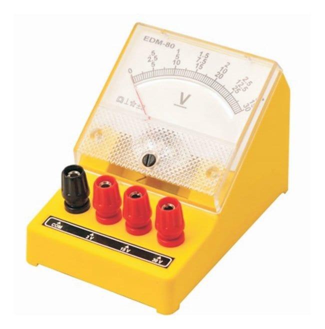 Eisco Moving Coil EDM-80 DC Voltmeters  Triple Range: 0 to 3V, 0 to 15V,