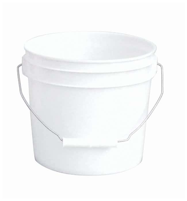 Fisherbrand Plastic Pail with Tear Tab Lid Capacity: 1 gal.; Thickness: