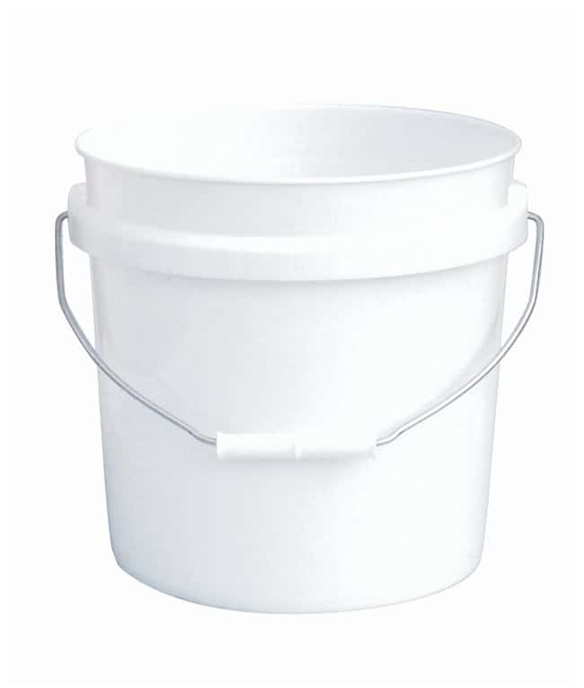 Fisherbrand Plastic Pail with Tear Tab Lid Capacity: 2 gal.; Thickness: