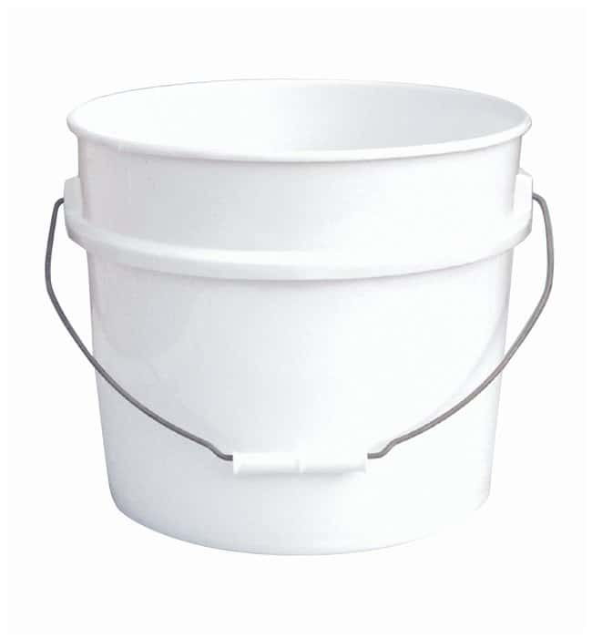 Fisherbrand Plastic Pail with Tear Tab Lid Capacity: 3.5 gal.; Thickness: