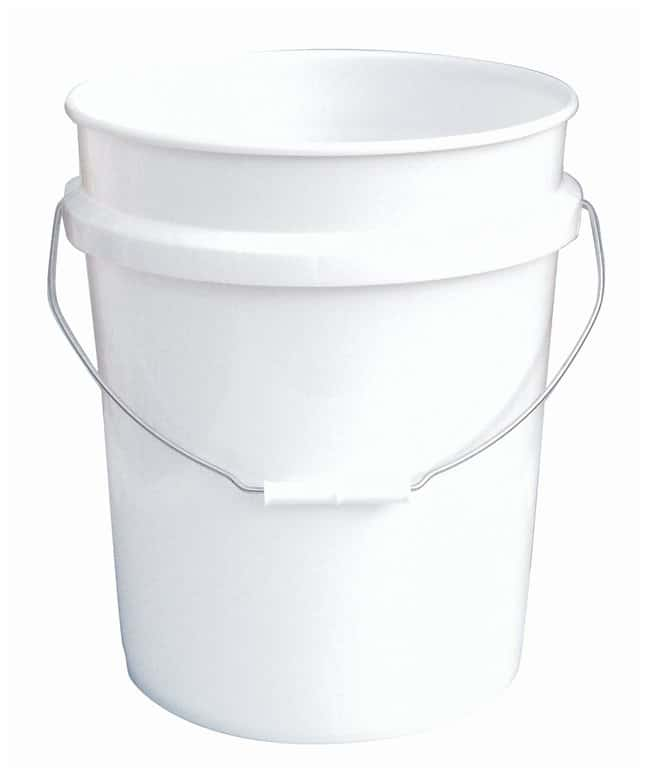 Fisherbrand Plastic Pail with Tear Tab Lid Capacity: 5 gal.; Thickness: