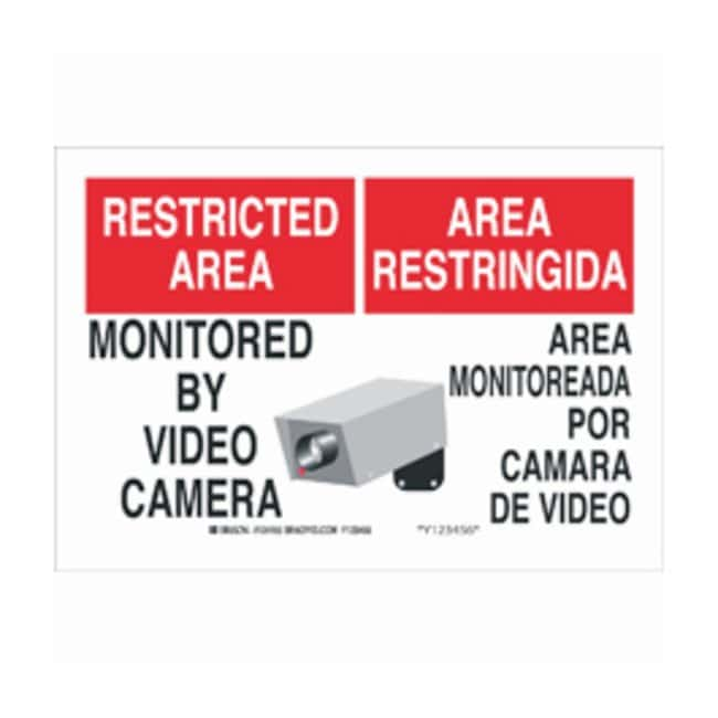 BradyAluminum Security, Admittance  CCTV Sign: MONITORED BY VIDEO CAMERA/AREA