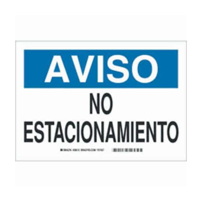 Brady Aluminum No Parking Sign: NO ESTACIONAMIENTO:Gloves, Glasses and