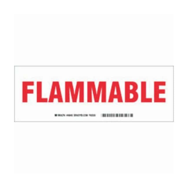 Brady Aluminum Sign: FLAMMABLE Red on white; 10 in. x 7 in. x 0.035 in.:Gloves,