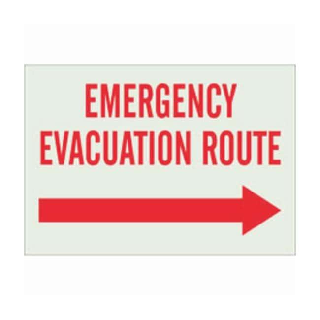 Brady Polystyrene BradyGlo Fire Emergency & Disaster Sign: EMERGENCY EVACUATION