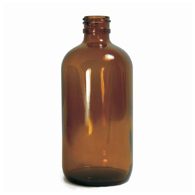 Fisherbrand™ Amber Boston Round Bottles without Cap