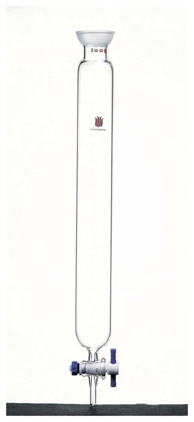 Synthware Chromatography Column with Spherical Joint and PTFE stopcock:Chromatography:Chromatography