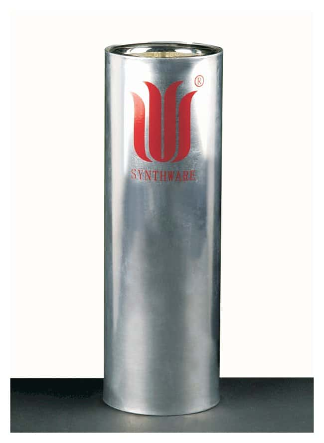 Synthware Dewar Flask, Wide Mouth, Metal Housing Capacity: 350mL; Exterior