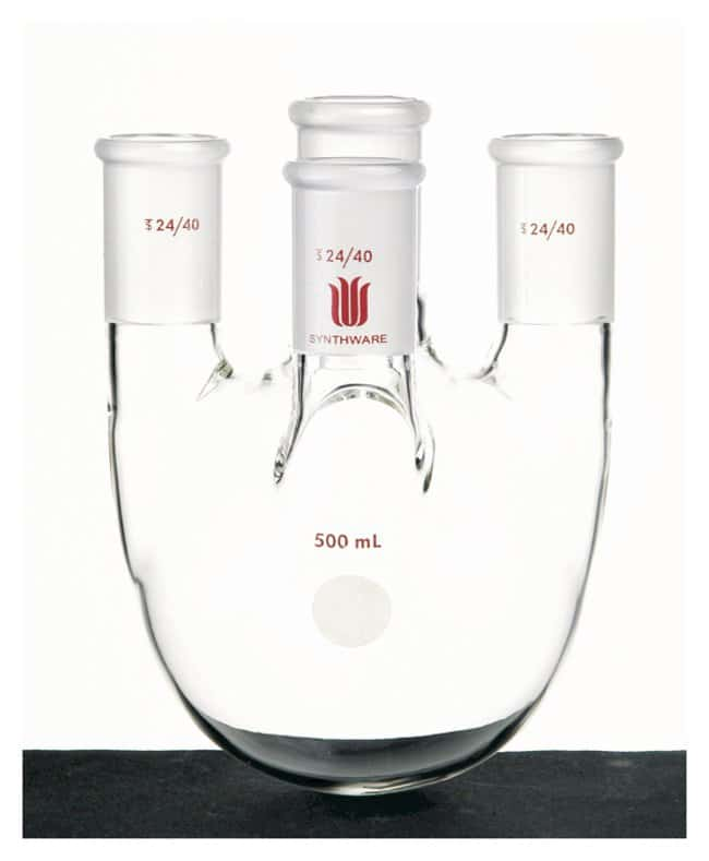 Synthware Round Bottom Flasks, 4-Neck:Dishes, Plates and Flasks:Flasks