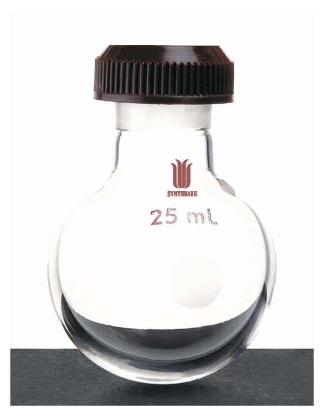 Synthware Round Bottom Flasks, Threaded Capacity: 5mL:Dishes, Plates and