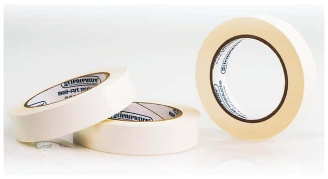 Bel-Art™ Write-On™ Paper Label Tapes 1 in. W x 40 yd. L; 3 in. core; White; 3/Pk. Bel-Art™ Write-On™ Paper Label Tapes