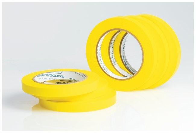 Bel-Art™Write-On™ Paper Label Tapes 0.50 in. W x 40 yd. L; 3 in. core; Yellow; 6/Pk. Bel-Art™Write-On™ Paper Label Tapes