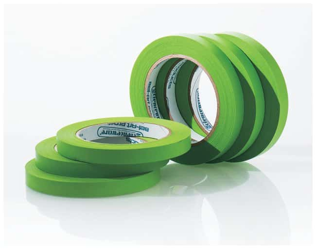Bel-Art™Write-On™ Paper Label Tapes 0.50 in. W x 40 yd. L; 3 in. core; Green; 6/Pk. Bel-Art™Write-On™ Paper Label Tapes
