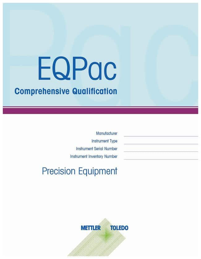 Mettler Toledo EQPac Comprehensive Qualification (IQ/OQ/PQ), V20S Volumetric