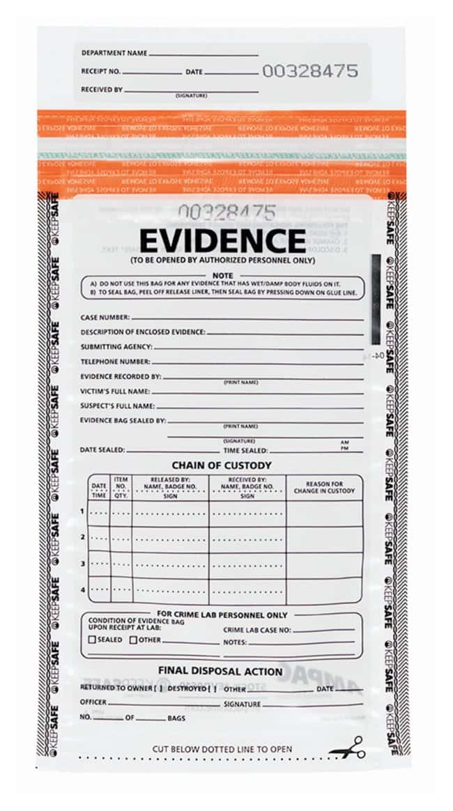 Ampac KeepSafe Clear Tamper-Evident Evidence Bags :Testing and Filtration