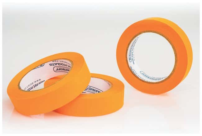 Bel-Art™Write-On™ Paper Label Tapes 1 in. W x 40 yd. L; 3 in. core; Orange; 3/Pk. Bel-Art™Write-On™ Paper Label Tapes