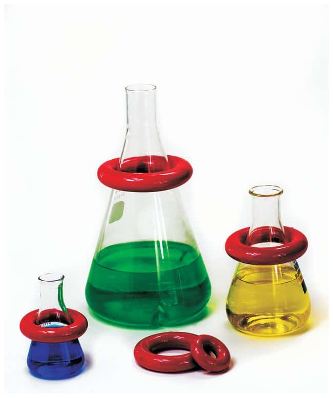 Bel-Art™ SP Scienceware™ Round Lead Ring Flask Weights with Vikem™ Vinyl Coating