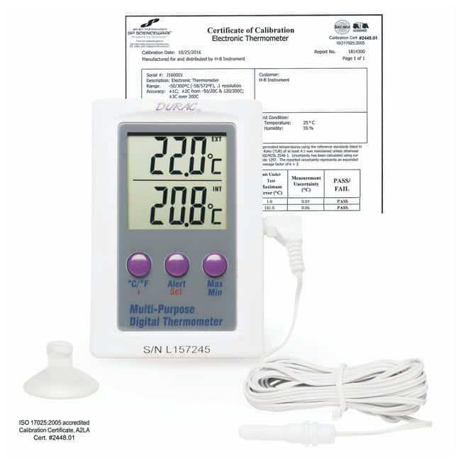 H-B Instrument SP Scienceware Calibrated Electronic Thermometers with Waterproof