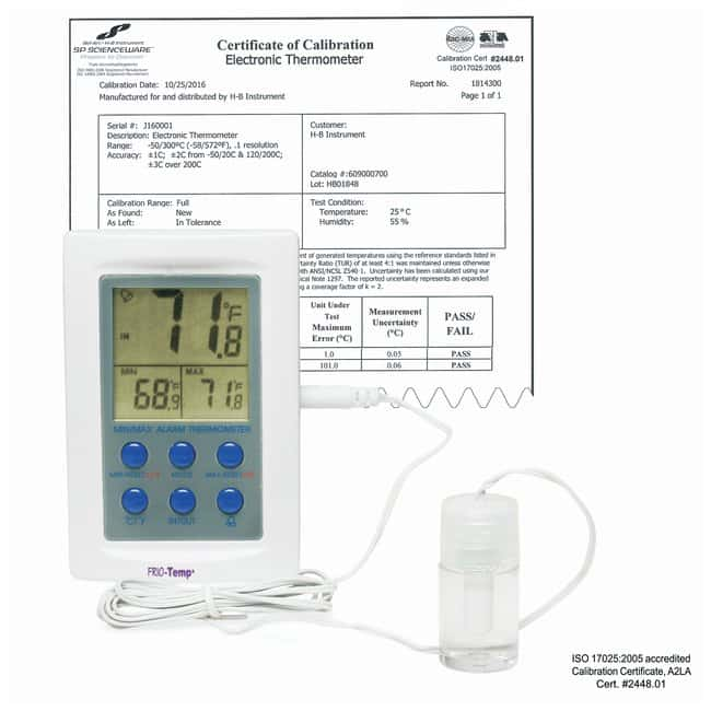 H-B Frio-Temp SP Scienceware Calibrated Electronic Verification Thermometers,