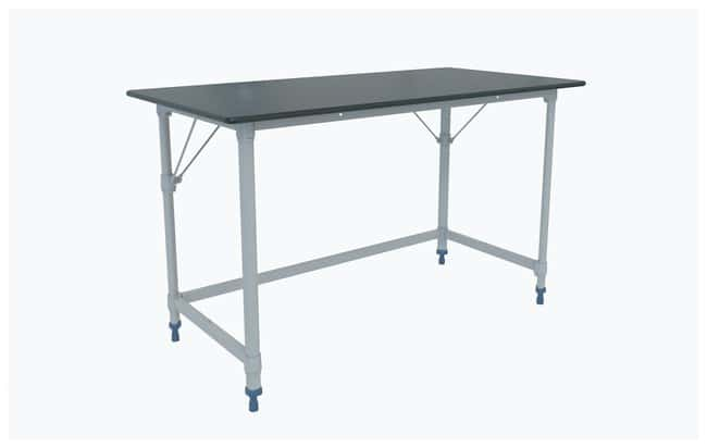 Metro™ MetroMax i™ Polymer Lab Worktable, Black Phenolic Top with 3-Sided Frame