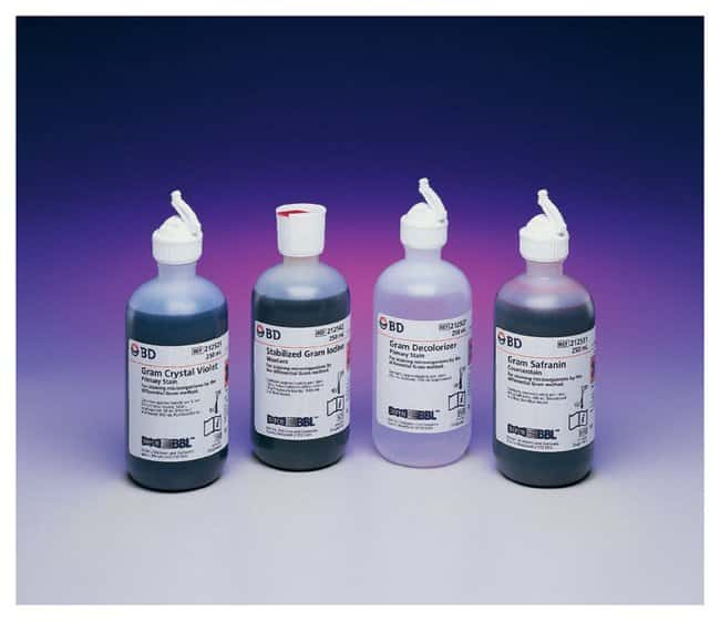 BD BBL™ Gram Stain Kits With stabilized iodine BD BBL™ Gram Stain Kits