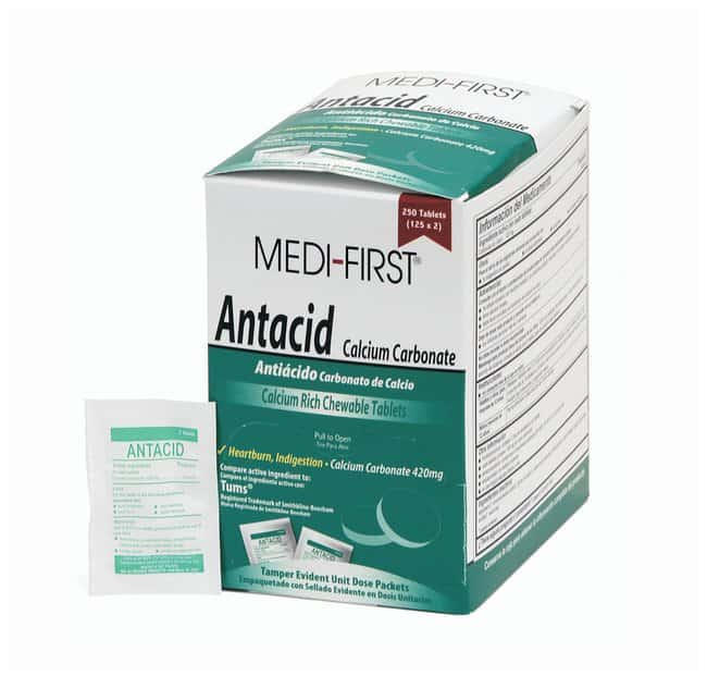 Medique Medi-First Chewable Antacid Tablets:Gloves, Glasses and Safety:First