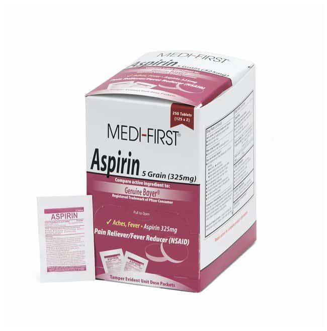 Medique Medi-First Aspirin Tablets:Gloves, Glasses and Safety:First Aid