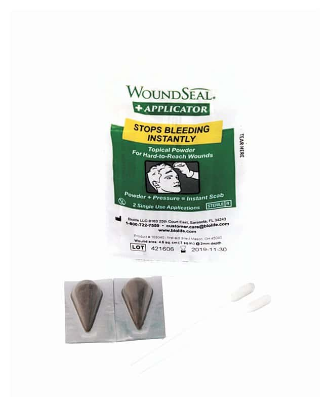 Medique Biolife QR WoundSeal Powder For hard-to-reach wounds:Gloves, Glasses