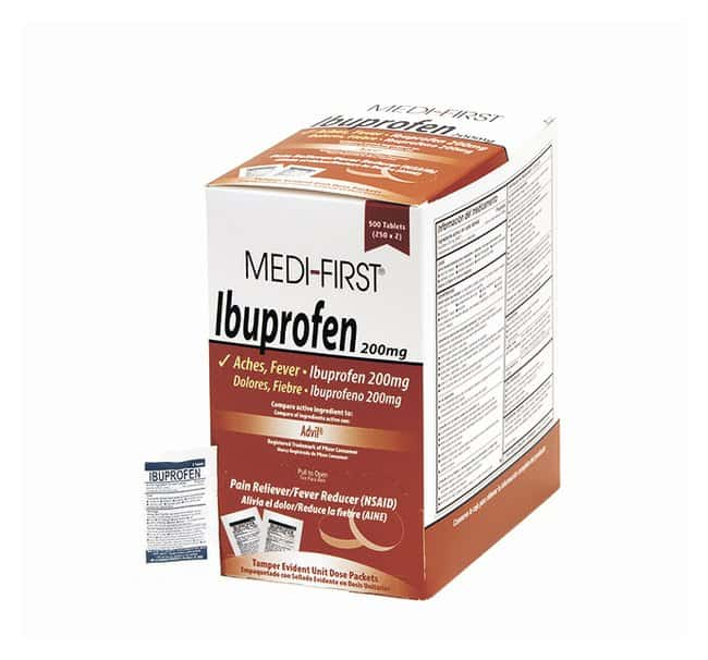 Medique Medi-First Ibuprofen Tablets:Gloves, Glasses and Safety:First Aid