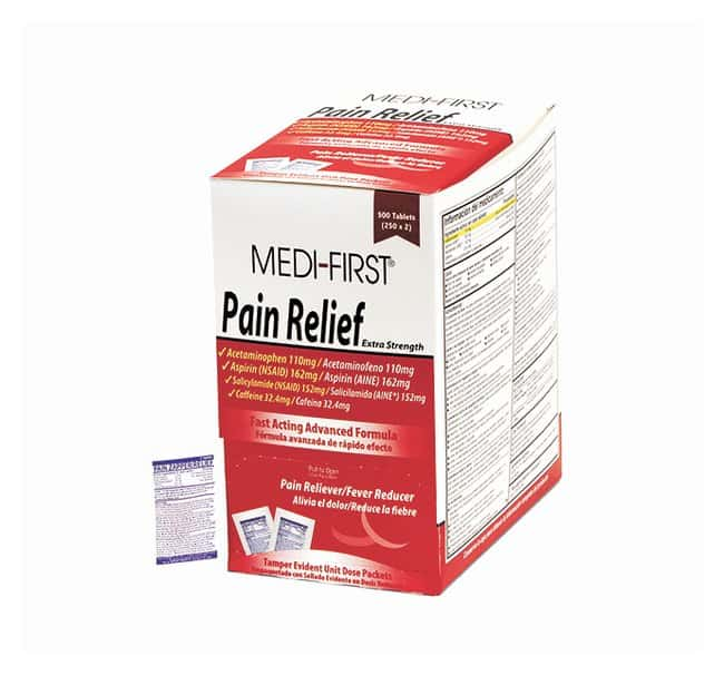 Medique Medi-First Extra-Strength Pain-Relief Tablets:Gloves, Glasses and