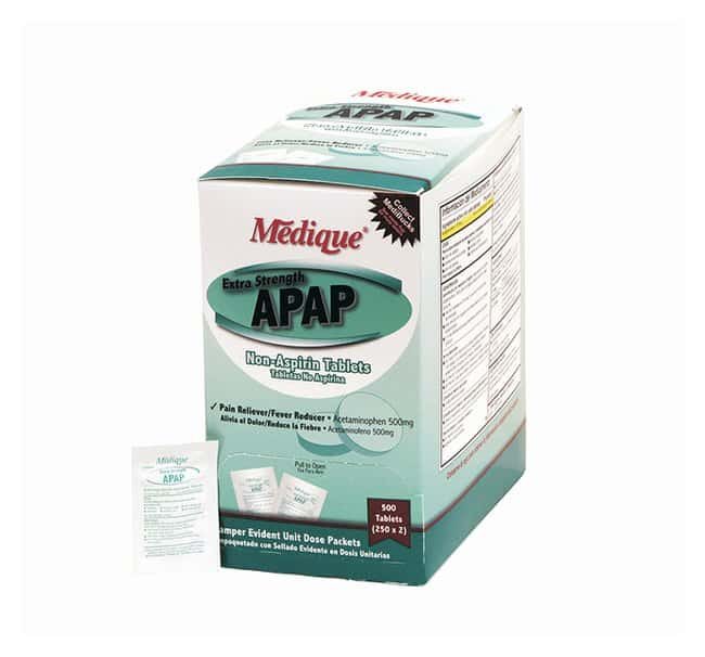 Medique ES APAP Acetaminophen Tablets:Gloves, Glasses and Safety:First