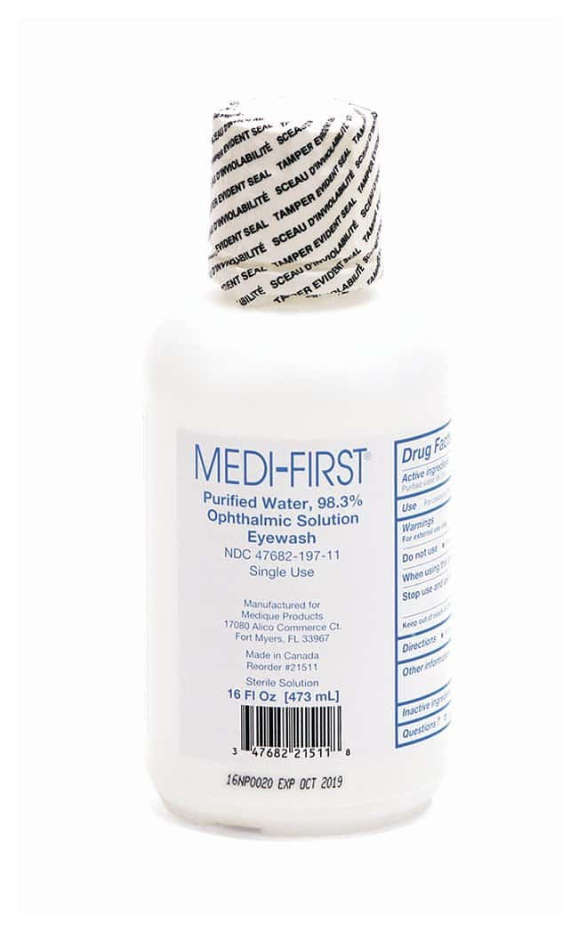 Medique Medi-First First-Aid Eye Wash:Gloves, Glasses and Safety:Eyewashes
