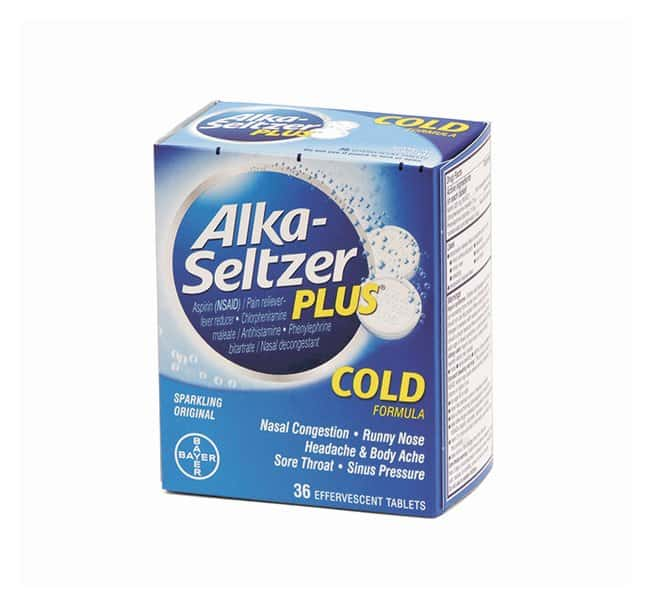 Medique Alka-Seltzer PLUS Tablets 18 x 2/pack:Gloves, Glasses and Safety