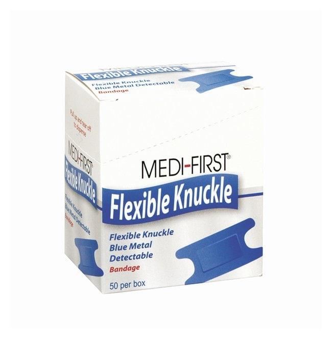 Medique Medi-First Metal Detectable Blue Bandages Woven knuckle bandage:Gloves,