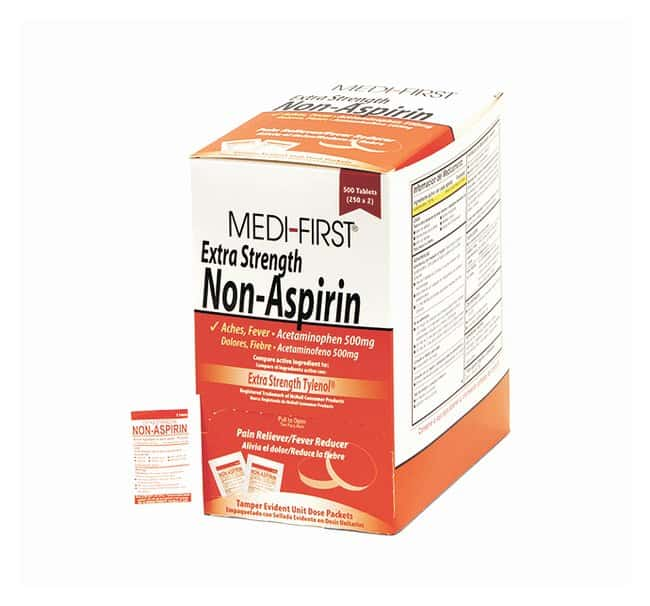 Medique Medi-First Extra-Strength Non-Aspirin Tablets:Gloves, Glasses and