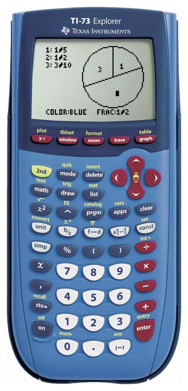 Texas Instruments TI-73 Explorer Graphing Calculator Blue color:Teaching