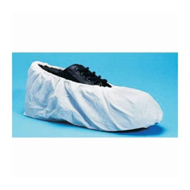 Keystone Polypropylene Shoe Covers - Super Sticky, Non-Skid  White; X-Large:Gloves,