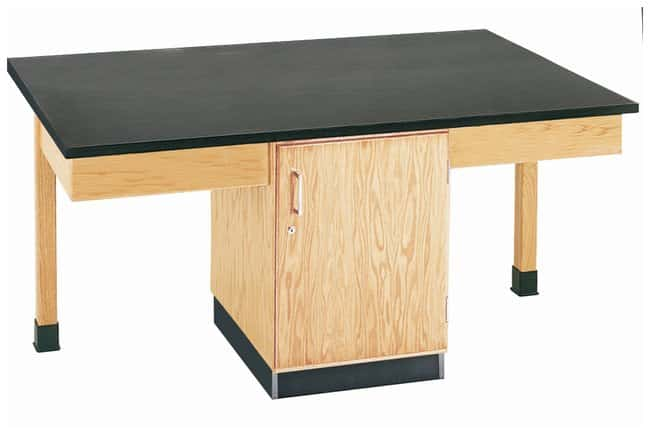 Diversified Woodcrafts Four-Student Double Storage Cabinet Table  :Teaching