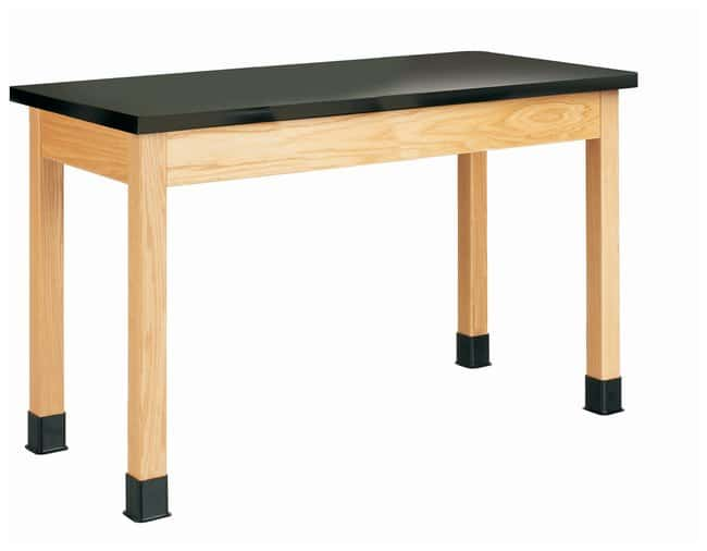 Diversified Woodcrafts Oak Table with Plain Apron and Solid Epoxy Top