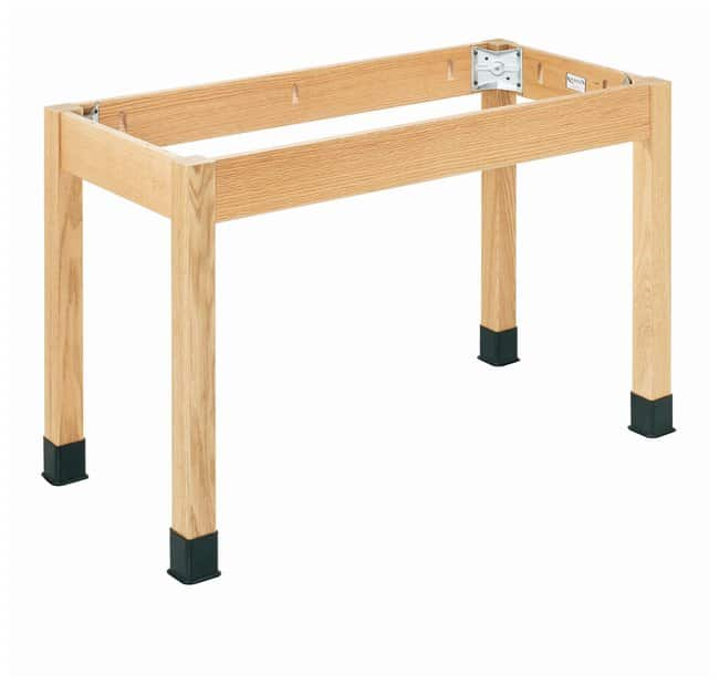 Diversified Woodcrafts Oak Table with Plain Apron with No Top  :Teaching