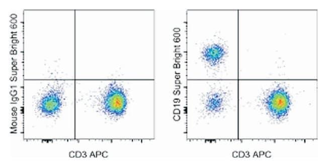 CD19 Mouse anti-Human, Super Bright 600, Clone: SJ25C1, eBioscience ::