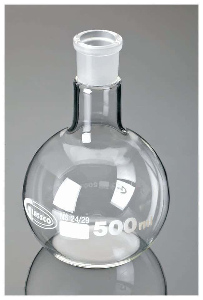 United Scientific Supplies Boiling Flasks, Flat Bottom, Ground Glass Joint,