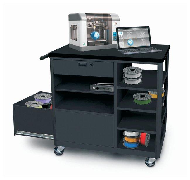 MarvelSteel 3D Printer Cart with Storage Drawer Four Side Shelves:Furniture:Laboratory