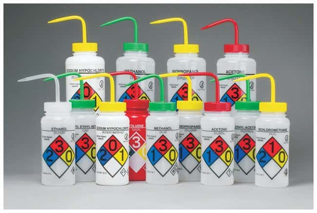 Fisherbrand™ GHS Labeled Right-to-Know Safety-Vented Wash Bottles