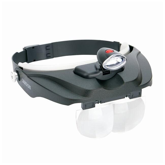 CarsonPRO Series MagniVisor Deluxe LED Lighted Head Visor Magnifier Model: