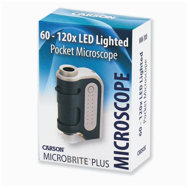 CarsonMicroBrite Plus LED Lighted Pocket Microscope Model: MM-300:Microscopes