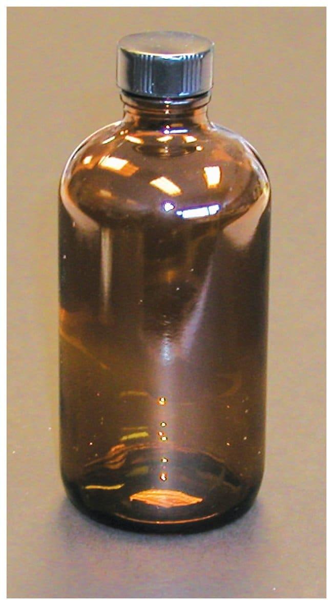 DWK Life SciencesBraune Boston-Rundflaschen mit Verschlusskappen mit konischer PE-Dichtungseinlage Capacity: 2 oz. (60mL), Quantity: 24/Cs. DWK Life SciencesBraune Boston-Rundflaschen mit Verschlusskappen mit konischer PE-Dichtungseinlage