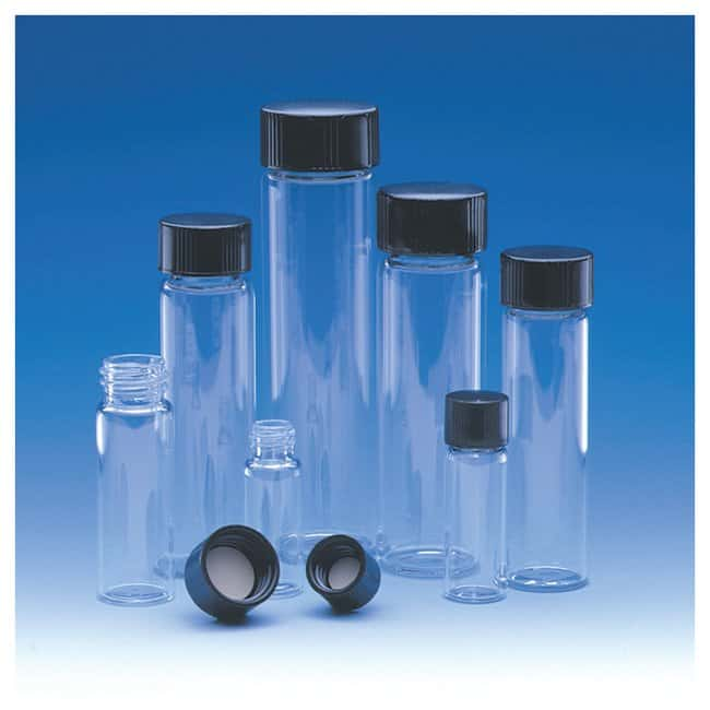 Fisherbrand™ Class A Clear Glass Threaded Vials with Caps, PTFE-faced White 14B Rubber Liner