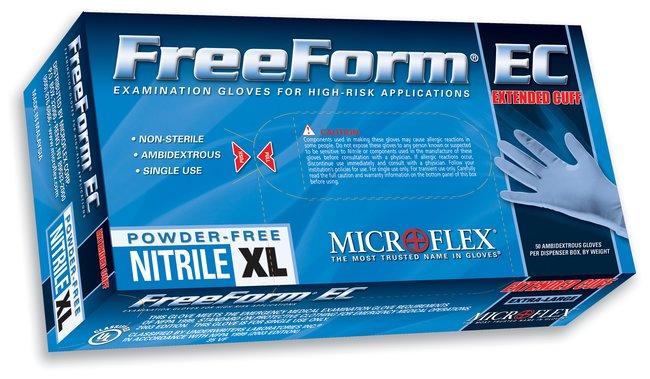 Microflex™FreeForm™ EC Powder-Free Nitrile Exam Gloves
