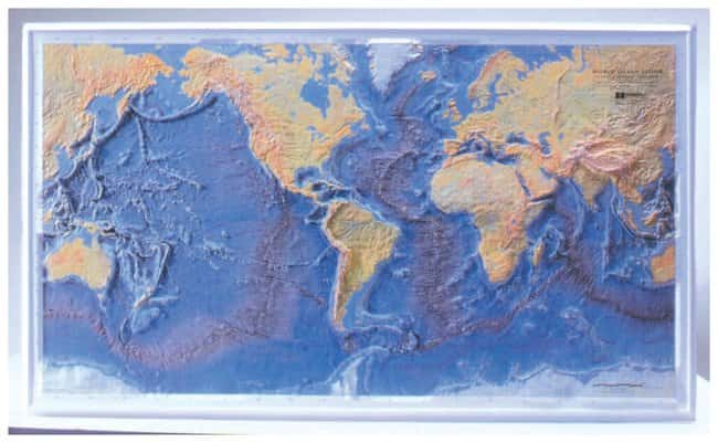 American Educational Products Ocean Floor Raised-Relief Map :Teaching Supplies:Earth